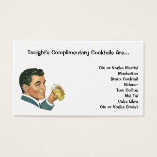 Cartão De Visitas Bebidas dos cocktail do vintage, bebidas do