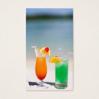 Cartão De Visitas Bebidas na praia