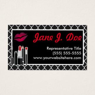 Cartão De Visitas Beijo cosmético preto de Avon