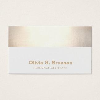 Cartão De Visitas Beira elegante profissional do ouro