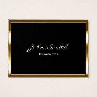 Cartão De Visitas Beira profissional do ouro do Chiropractor