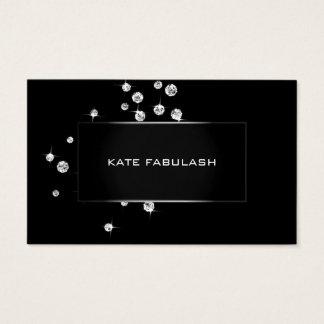 Cartão De Visitas Beleza branca preta do estilista da forma de