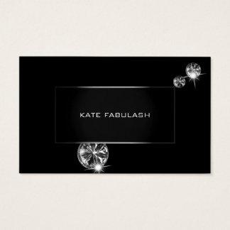 Cartão De Visitas Beleza branca preta do estilista da forma do