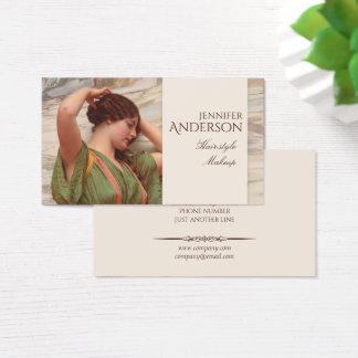 Cartão De Visitas Beleza CC0017 da composição do cabeleireiro do