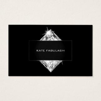 Cartão De Visitas Beleza de cristal branca preta do cabeleireiro do