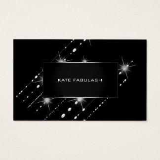 Cartão De Visitas Beleza de cristal Sparkly cinzenta do planejador