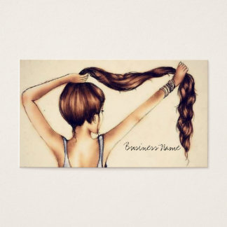 Cartão De Visitas Beleza longa do cabelo