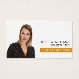 Cartão De Visitas Bens imobiliários da foto profissional