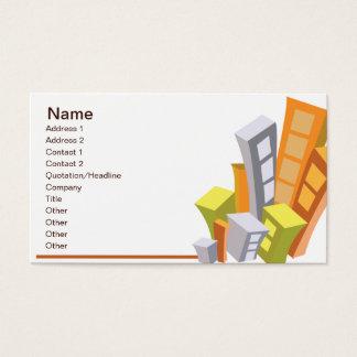 Cartão De Visitas Bens imobiliários - negócio