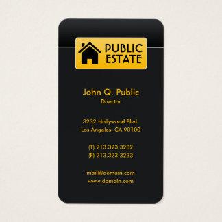 Cartão De Visitas Bens imobiliários pretos incorporados elegantes