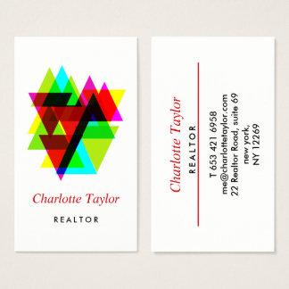 Cartão De Visitas Bens imobiliários profissionais geométricos