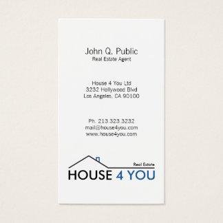 Cartão De Visitas Bens imobiliários verticais