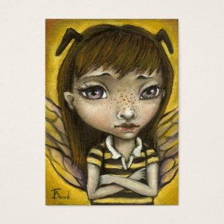 Cartão De Visitas Bernie - menina da abelha do mel