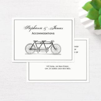 Cartão De Visitas Bicicleta do vintage construída para