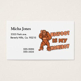 Cartão De Visitas Bigfoot é meu ficar em casa