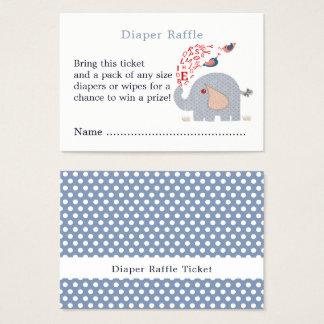 Cartão De Visitas Bilhete azul bonito do Raffle da fralda do chá do