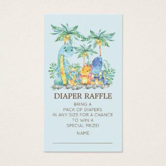 Cartão De Visitas Bilhete bonito do Raffle da fralda do chá de