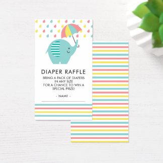 Cartão De Visitas Bilhete colorido do Raffle da fralda do chá de