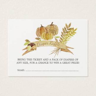 Cartão De Visitas Bilhete do Raffle da fralda da abóbora do brilho