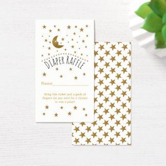Cartão De Visitas Bilhete do Raffle da fralda da lua do ouro & do