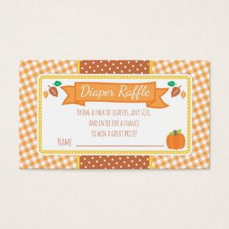 Cartão De Visitas Bilhete do Raffle da fralda do chá de fraldas da