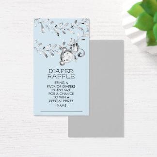 Cartão De Visitas Bilhete do Raffle da fralda do chá de fraldas dos