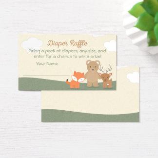 Cartão De Visitas Bilhete do Raffle da fralda dos animais da
