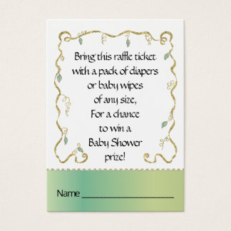 Cartão De Visitas Bilhete do Raffle do chá de fraldas/castelo