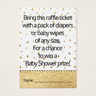 Cartão De Visitas Bilhete do Raffle do chá de fraldas/pinguim bebê