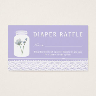 Cartão De Visitas Bilhete do Raffle do frasco de pedreiro da flor