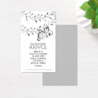Cartão De Visitas Bilhete neutro do Raffle da fralda do chá de