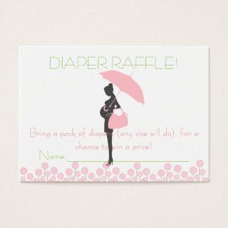 Cartão De Visitas Bilhetes cor-de-rosa do Raffle da fralda da