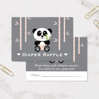 Cartão De Visitas Bilhetes cor-de-rosa do Raffle da fralda da panda