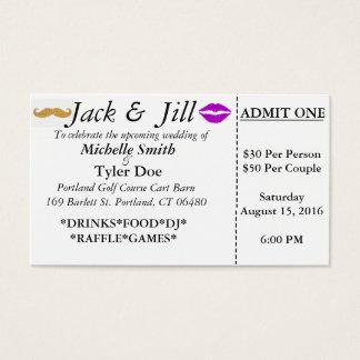 Cartão De Visitas Bilhetes de Jack e de Jill