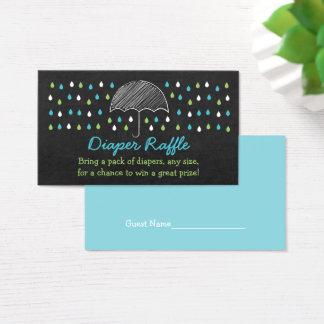 Cartão De Visitas Bilhetes do Raffle da fralda do guarda-chuva do