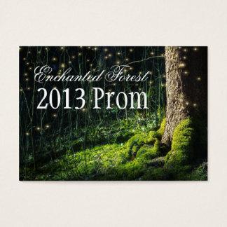 Cartão De Visitas Bilhetes Enchanted do baile de formatura da