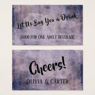 Cartão De Visitas Bilhetes rústicos afligidos da bebida do vintage