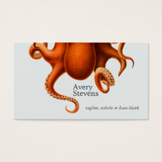 Cartão De Visitas Biologia marinha do polvo legal e original náutica