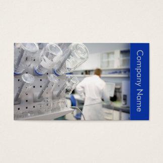 Cartão De Visitas Biotecnologia/laboratório químico do