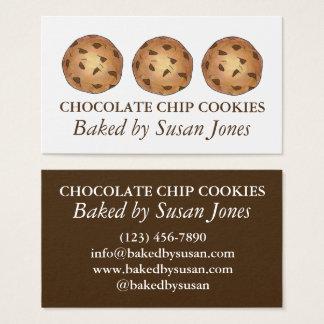 Cartão De Visitas Biscoitos do biscoito dos pedaços de chocolate