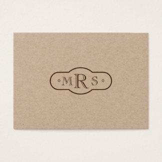 Cartão De Visitas Bistre profissional Monogrammed da pia batismal de