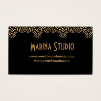 Cartão De Visitas Black arabian clean