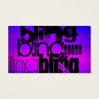 Cartão De Visitas Bling; Azul violeta e magenta vibrantes