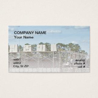 Cartão De Visitas blocos de cimento no andaime