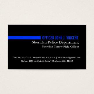 Cartão De Visitas Blue Line fino moderno policia