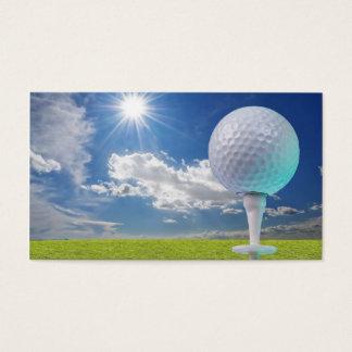 Cartão De Visitas bola de golfe em um T com grama