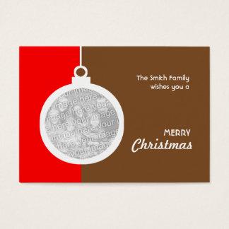 Cartão De Visitas Bola decorativa do Natal