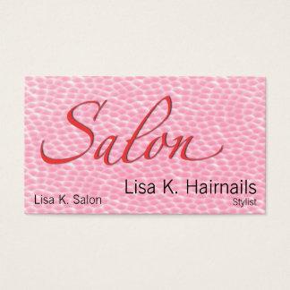 Cartão De Visitas Bolhas cor-de-rosa do salão de beleza