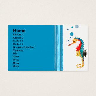 Cartão De Visitas Bolhas de sopro modernas do cavalo de mar da