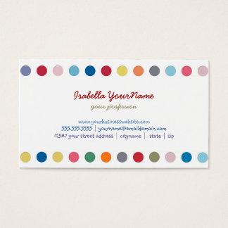 Cartão De Visitas Bolinhas - amor da cor